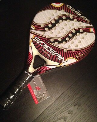 Tennis Paddle Racket Sidespin Conquer J3