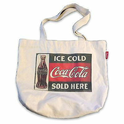 Coca Cola Eco Bags Canvas Shoulder Tote Printed Logo Shopping Grocery Reusable