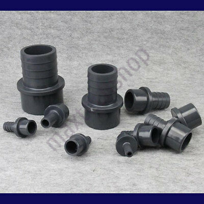 PVC Connector Barb Fitting Hose Pipe Tubing Coupler Solvent Welding 3/8 1/2 1""
