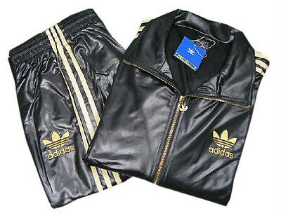 Adidas Chile 62 Black Gold Sport Full Top Track Suit Jacket M L Xl