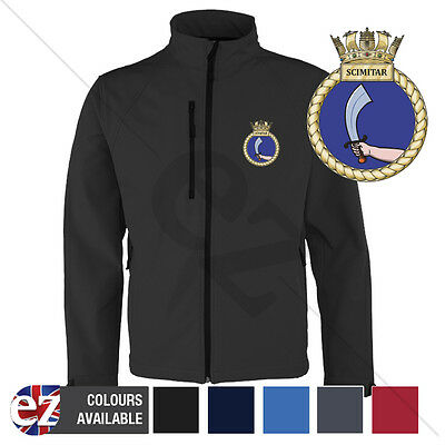 HMS Scimitar - Royal Navy - Softshell Jacket - Personalised text available