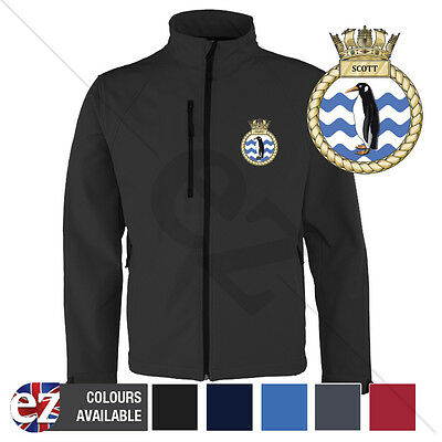 HMS Scott - Royal Navy - Softshell Jacket - Personalised text available
