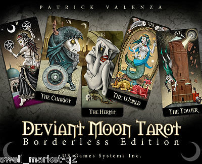 Deviant Moon Tarot: Brand Borderless Edition New FREE TRACKING