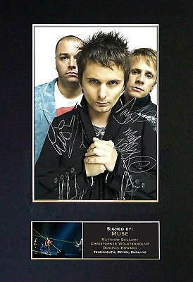 MUSE Signed Mounted Autograph Photo Prints A4 195