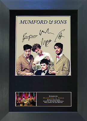 MUMFORD & SONS Signed Mounted Autograph Photo Prints A4 357