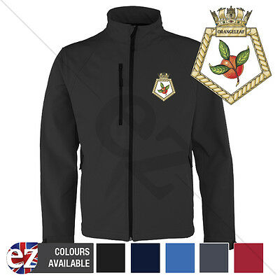 HMS Orangeleaf - Royal Navy - Softshell Jacket - Personalised text available