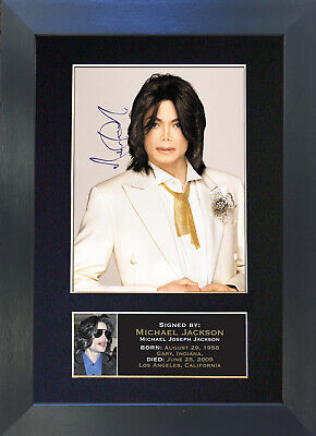 MICHAEL JACKSON Signed Mounted Autograph Photo Prints A4 68