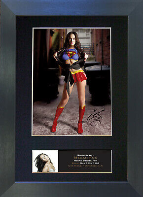 MEGAN FOX Signed Mounted Autograph Photo Prints A4 385