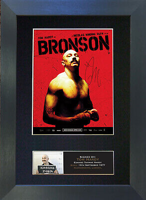 BRONSON Tom Hardy Signed Mounted Autograph Photo Prints A4 374