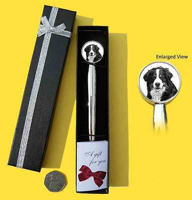 Bernese Mountain Dog Chrome Plated Letter Opener Boxed with Gift Tag