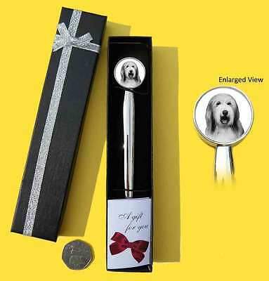 Bearded Collie Dog Chrome Plated Letter Opener Boxed with Gift Tag