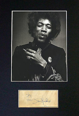 JIMI HENDRIX Signed Mounted Autograph Photo Prints A4 59