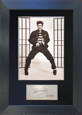 ELVIS PRESLEY Jailhouse Rock Signed Mounted Autograph Photo Prints A4 409
