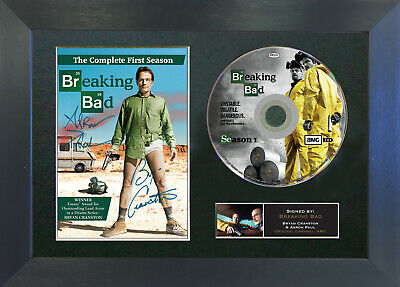 BREAKING BAD DVD Signed Mounted Autograph Photo Prints A4 67