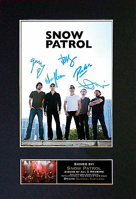 SNOW PATROL Signed Mounted Autograph Photo Prints A4 111