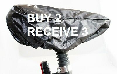 BLACK BIKE CYCLE SEAT SADDLE  WATERPROOF RAIN COVER Adult Children Bicycle