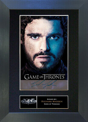 RICHARD MADDEN Signed Mounted Autograph Photo Prints A4 349