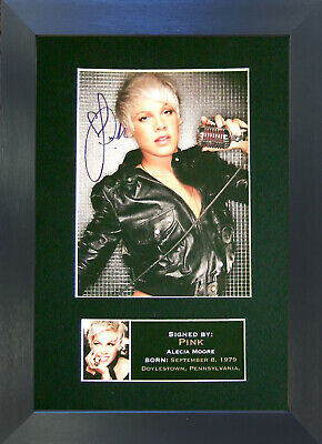 PINK Signed Mounted Autograph Photo Prints A4 230