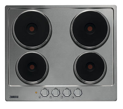 Zanussi ZEE6940FXA Rapid 4 Zone Integrated 60cm Electric Hob (Stainless Steel)