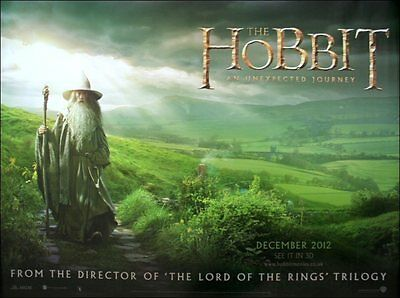 The Hobbit: An Unexpected Journey - Original UK QUAD Sheet Movie Poster