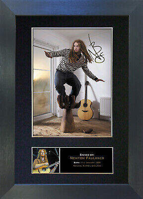 NEWTON FAULKNER Signed Mounted Autograph Photo Prints A4 256