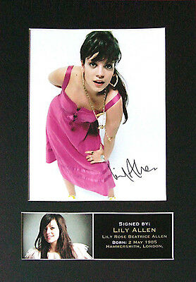 LILY ALLEN Signed Mounted Autograph Photo Prints A4 226