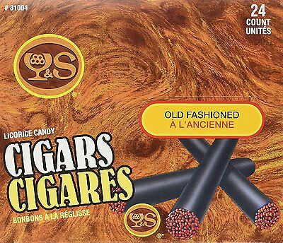 24 Y&S Old Fashioned Licorice Candy Cigars 450g #81004