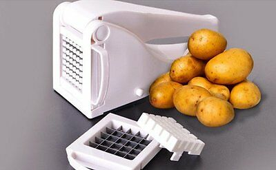 Potato Chipper Slicer Chips French Fries Chopper Cutter Chip Maker Quick & Easy