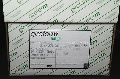 8.5 x 11 2 Part GiroForm Carbonless Paper Reverse 2,500 Sets 5000 Sheets