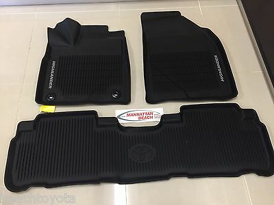 2014-2019 Toyota Highlander Oem All Weather Floor Liner Mats Pt908-48165-02