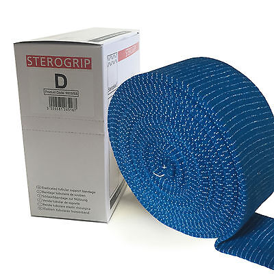 Steroplast Sterogrip Blue Catering Kitchen Elasticated Tubular Bandage Size D