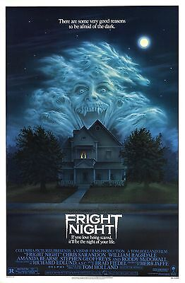 Fright Night Movie POSTER (1985) Horror Comedy Cult Classic