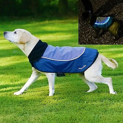 "Rosewood UK Design  Night Bright 'Waterproof' LED Dog Jacket / Coat 12"" -30cm"