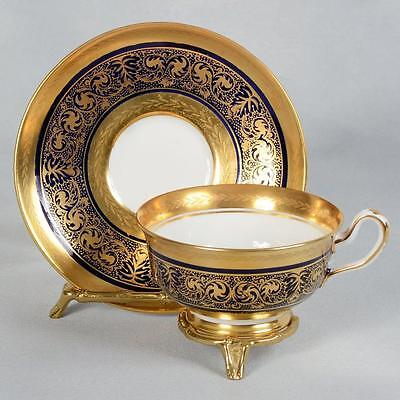 Stunning Royal Chelsea Teacup & Saucer - Heavily Gilded