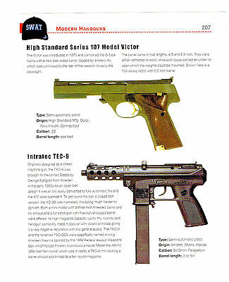 High Standard 107, Intratec Tec-9 Auto Pistols Brief History/specifications 2012