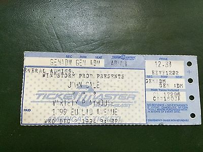 John Cale Ticket Stub Atlanta Variety Playhouse December 2, 1992