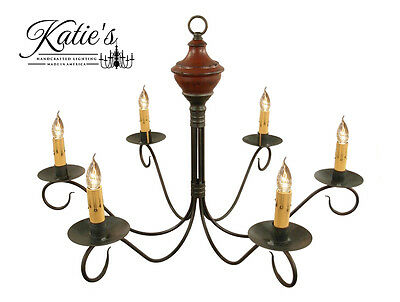 Washington Wooden Chandelier by Katie's - Colonial Primitive Country - NEW!
