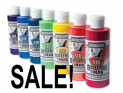 Jacquard Airbrush Paint Colors Choose from  23 Premium Colors 4oz MultiSurface