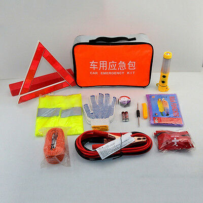 12pcs Car Accident Emergency Kit Roadside Assistance Auto Preparedness Tool