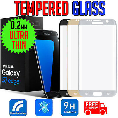 FULL COVER TEMPERED GLASS Screen Protector For Samsung GALAXY S7 & S7 Edge