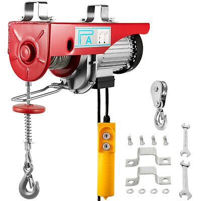 New pro Heavy Duty 440LB ELECTRIC MOTOR OVERHEAD Winch HOIST CRANE LIFT