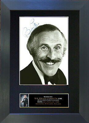 BRUCE FORSYTH Signed Mounted Autograph Photo Prints A4 178