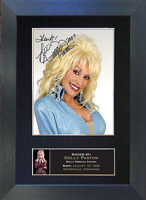 DOLLY PARTON Signed Mounted Autograph Photo Prints A4 239