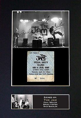 THE JAM Signed Mounted Autograph Photo Prints A4 187