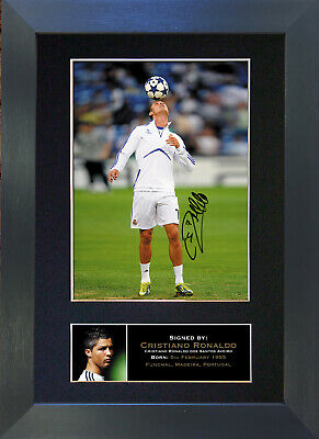 CRISTIANO RONALDO Real Madrid Signed Mounted Autograph Photo Prints A4 139