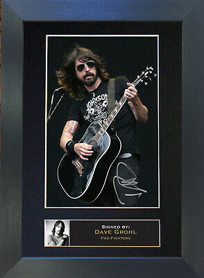 DAVE GROHL Signed Mounted Autograph Photo Prints A4 77