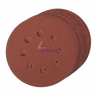 Punched Sanding Discs 125mm 10pk Grit/180 Hook And Loop Aluminium Oxide