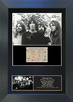 PINK FLOYD Signed Mounted Autograph Photo Prints A4 193