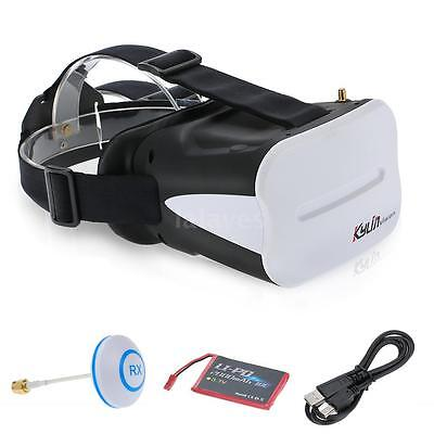 KDS Kylin Vision 64CH 5.8G 3D FPV RC Goggles 5 Inch VR Headset with Battery J0L1