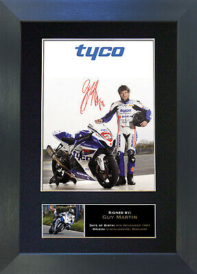 GUY MARTIN Isle Of Man TT Signed Mounted Autograph Photo Prints A4 307